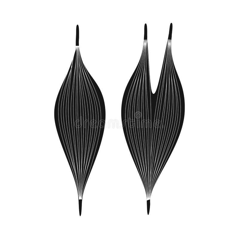 Ilustração do vetor da pesquisa e do símbolo do laboratório Ajuste do símbolo de ações da pesquisa e do órgão para a Web ilustração royalty free