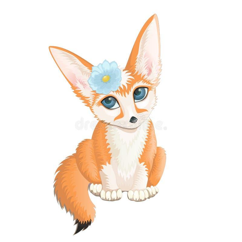 Ilustração do vetor da raposa de Fennec ilustração royalty free