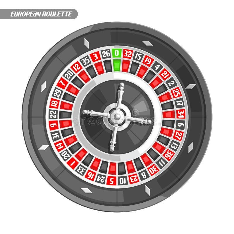 Ilustração do vetor da roda de roleta ilustração do vetor
