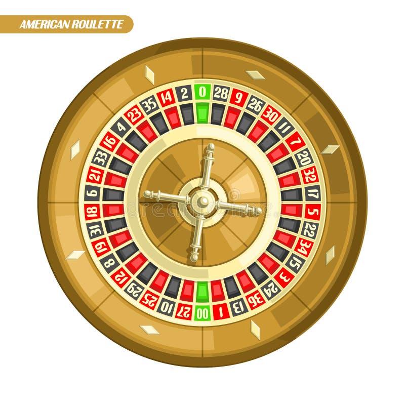 Ilustração do vetor da roda de roleta ilustração stock