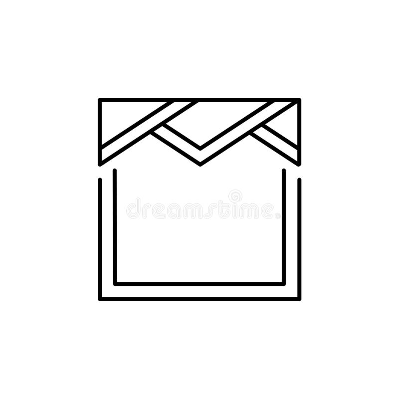 Ilustração do vetor da sanefa do triângulo Linha ícone de vala da tela ilustração royalty free