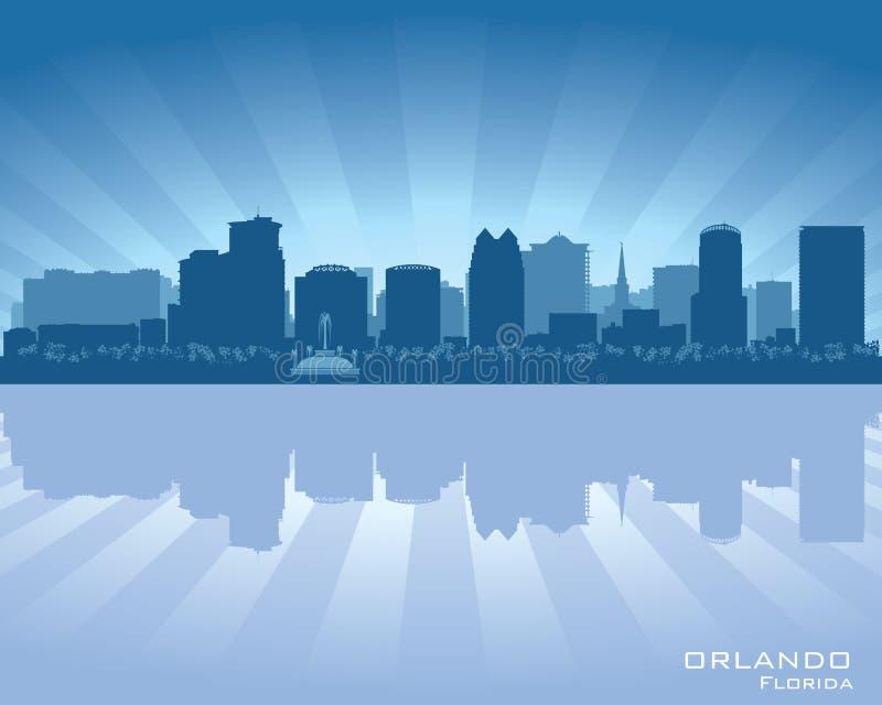 Ilustração do vetor da silhueta da cidade da skyline de Orlando, Florida ilustração stock