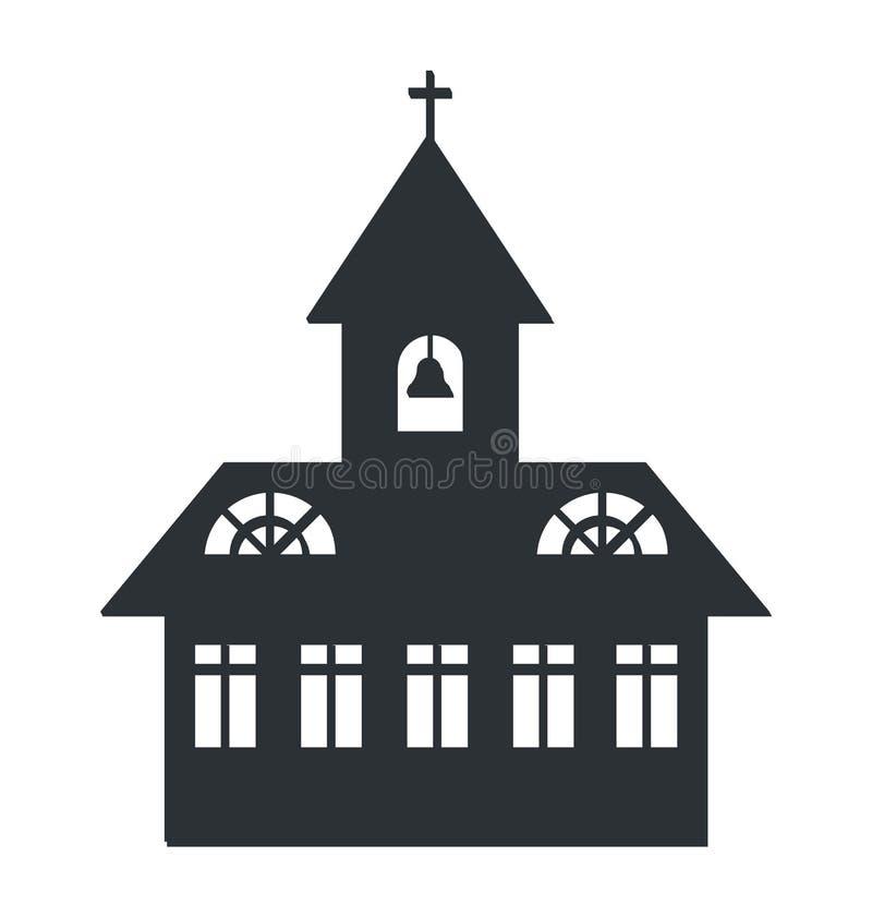 Ilustração do vetor da silhueta da igreja ilustração do vetor