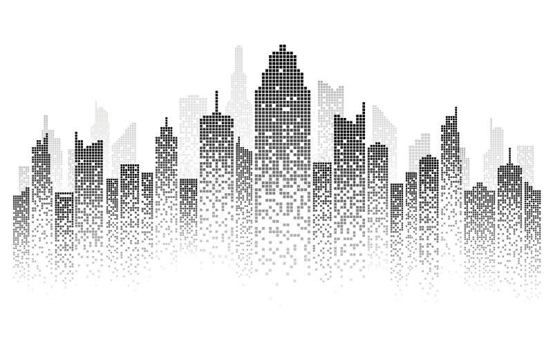 Ilustração do vetor da skyline da cidade ilustração royalty free