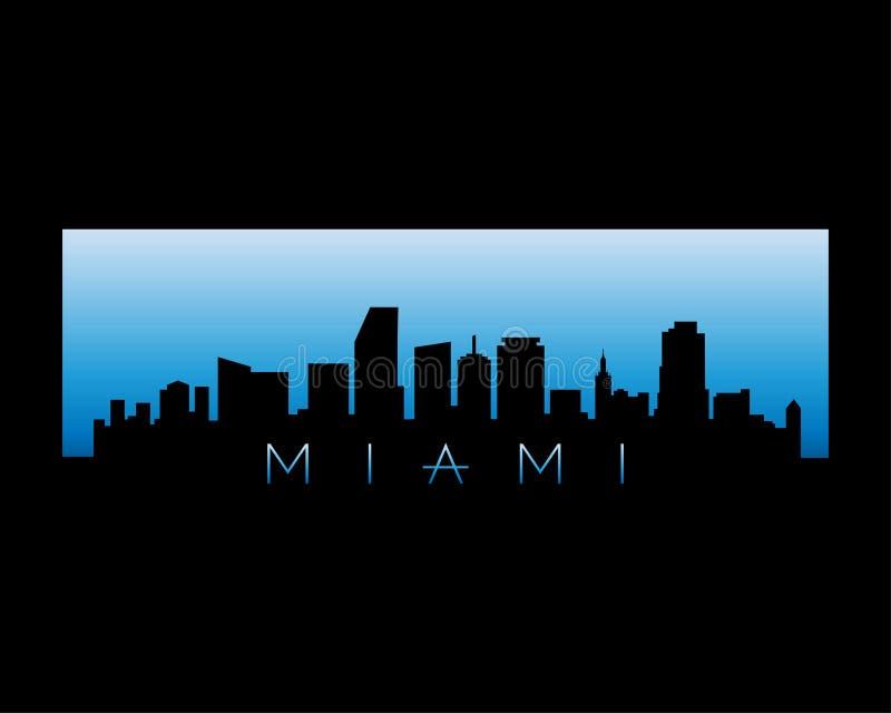 Ilustração do vetor da skyline da cidade de Miami ilustração royalty free