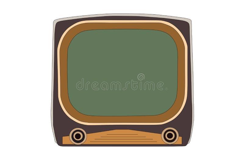 Ilustração do vetor da televisão dos anos 50 do vintage ilustração royalty free