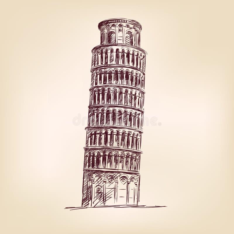 Ilustração do vetor da torre de Pisa ilustração royalty free