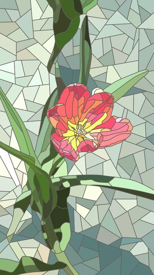 Ilustração do vetor da tulipa do vermelho das flores ilustração royalty free