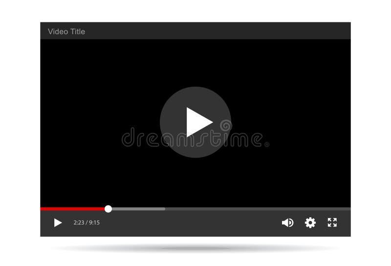 Ilustração do vetor da vídeo ilustração stock