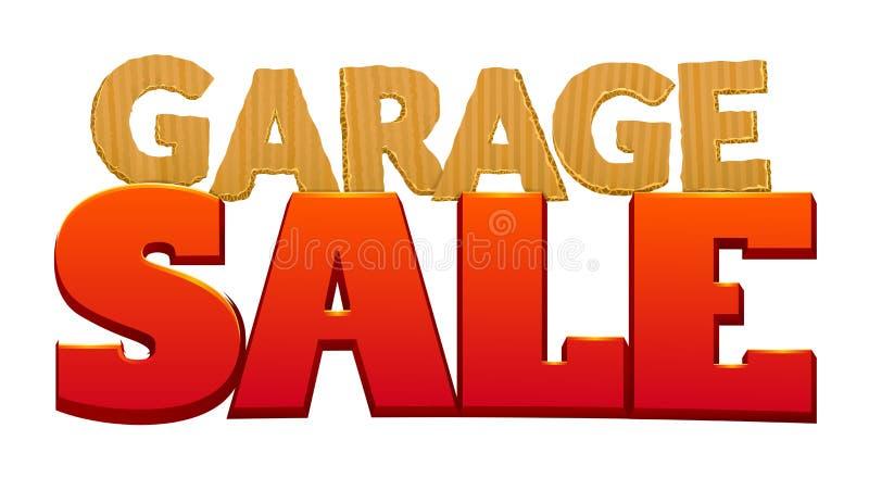 Ilustração do vetor da venda de garagem ilustração do vetor