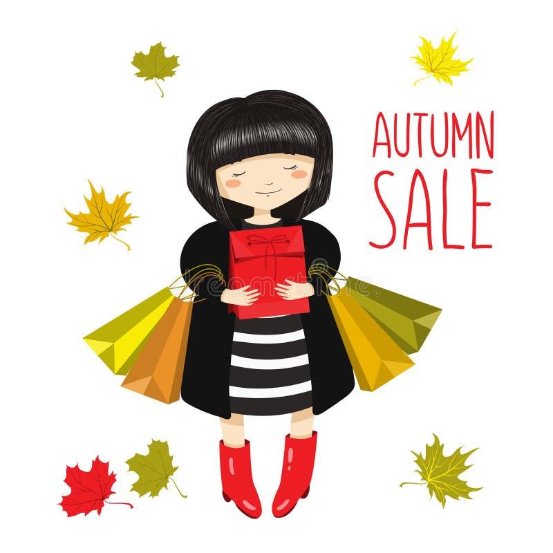 Ilustração do vetor da venda do outono ilustração royalty free