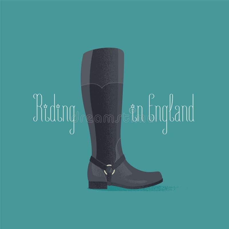Ilustração do vetor das botas de equitação de Hourse ilustração royalty free
