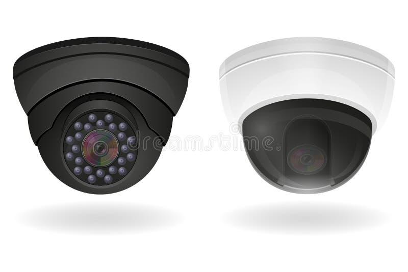 Ilustração do vetor das câmaras de vigilância ilustração royalty free