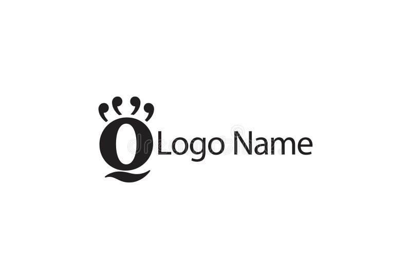 Ilustração do vetor das citações Logo Design ilustração royalty free