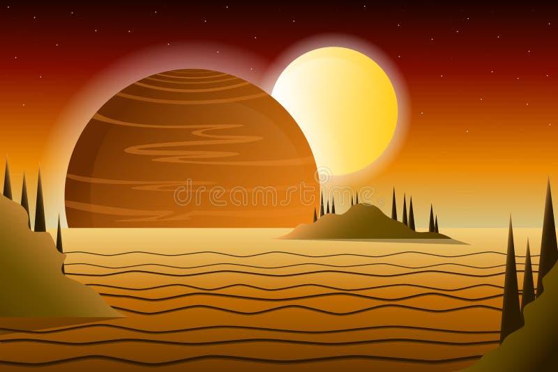 Ilustração do vetor das estrelas do sol do Vênus do planeta do espaço ilustração do vetor