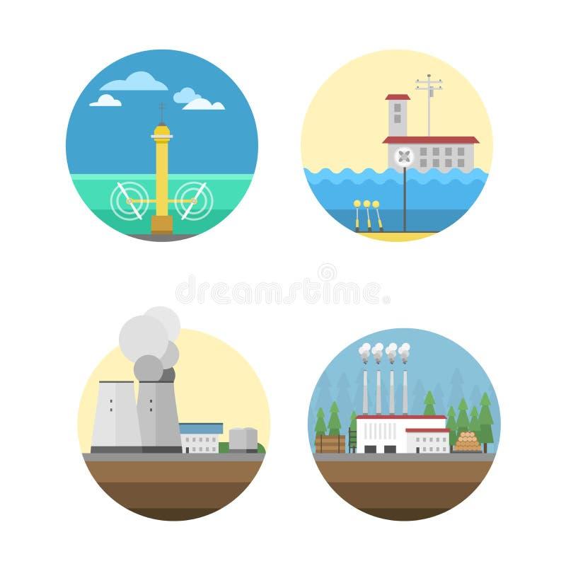 Download Ilustração Do Vetor Das Fontes De Energia Ilustração do Vetor - Ilustração de fonte, renewable: 80100523