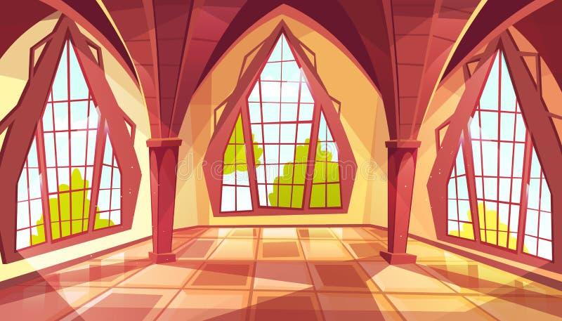 Ilustração do vetor das janelas do salão de baile ou do palácio ilustração royalty free