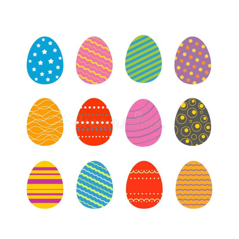 Ilustração do vetor das silhuetas dos ovos da páscoa Ovos da páscoa para Eas ilustração do vetor