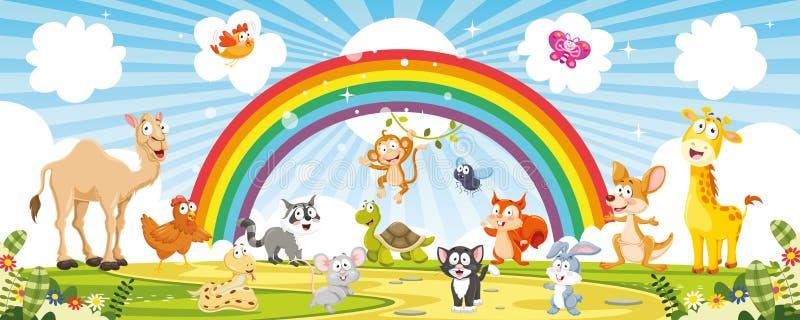 Ilustração do vetor de animais dos desenhos animados ilustração do vetor