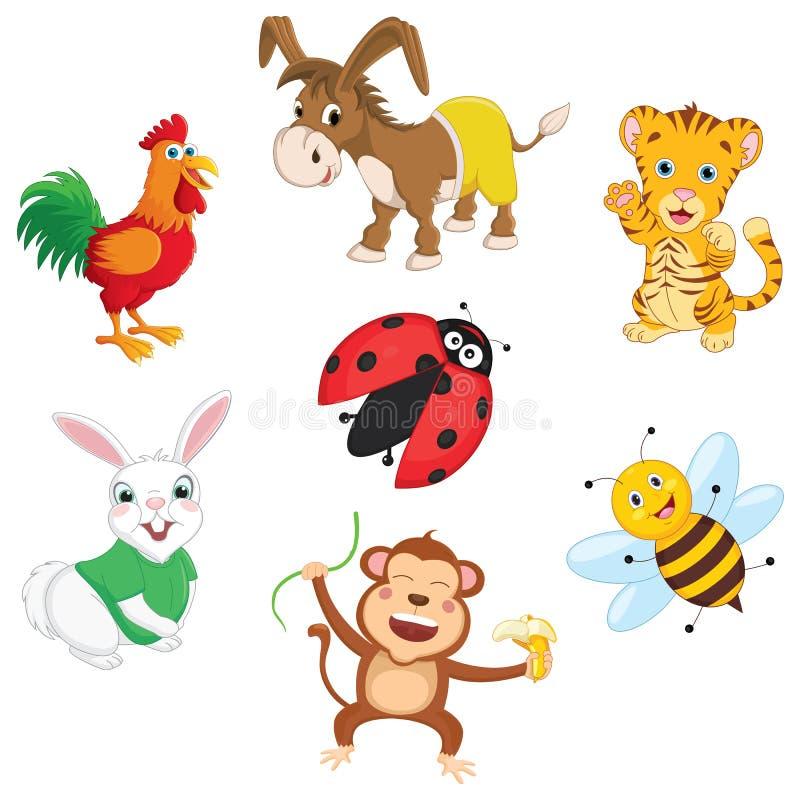 Ilustração do vetor de animais dos desenhos animados ilustração stock