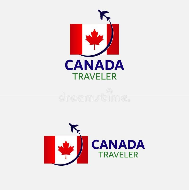 Ilustração do vetor de Canadá da bandeira com curso plano ilustração do vetor