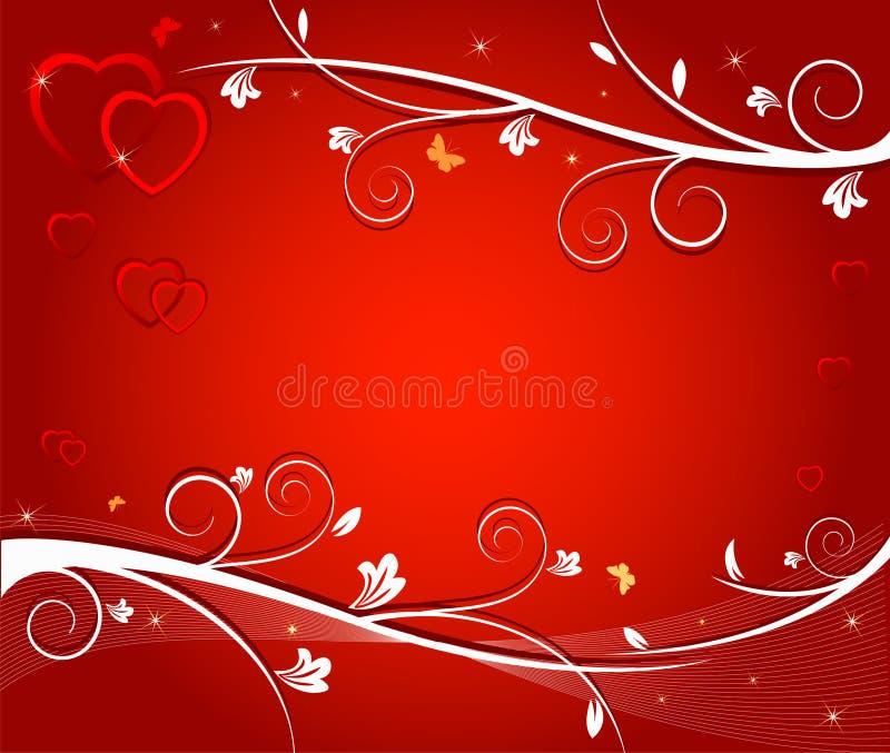 Ilustração do vetor de corações vermelhos ilustração stock