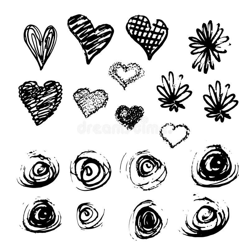 Ilustração do vetor de cursos da escova ilustração do vetor