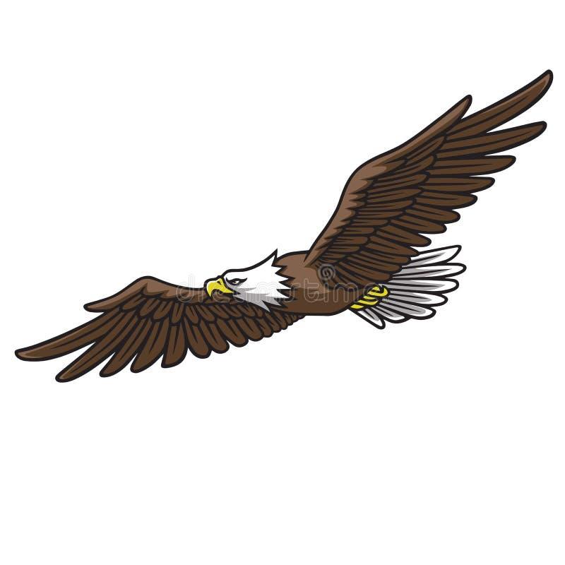 Ilustração do vetor de Eagle Mascot Logo Spread Wings ilustração stock