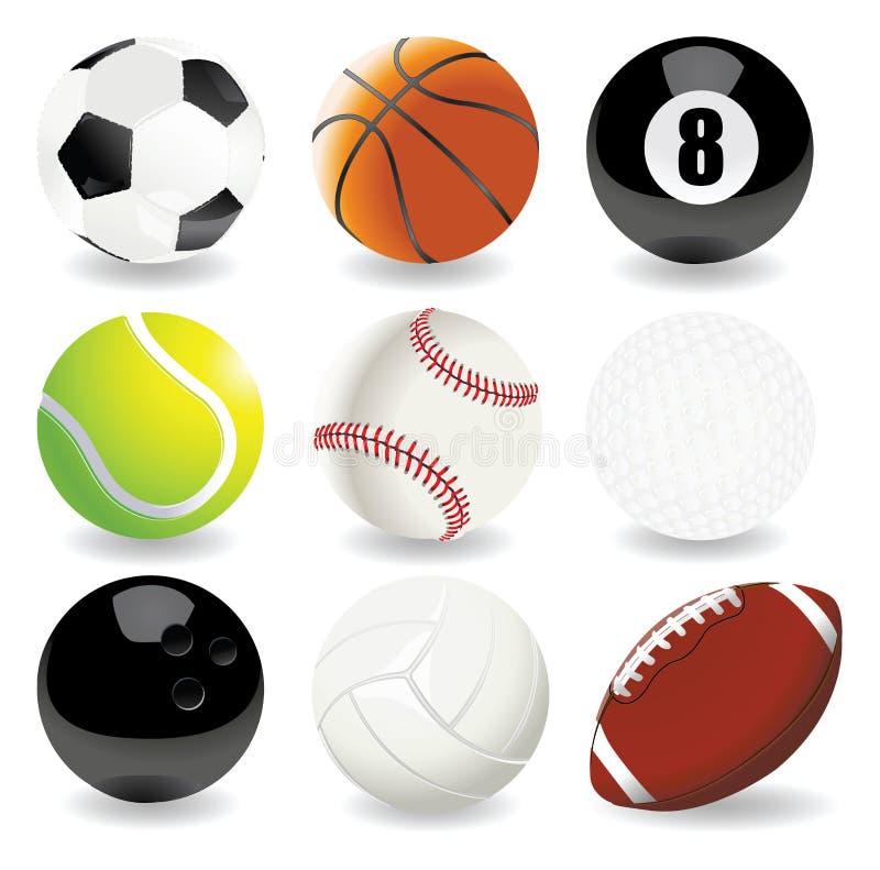 Ilustração do vetor de esferas do esporte ilustração royalty free
