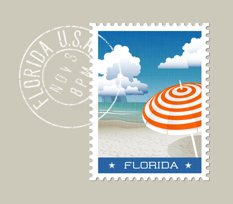 Ilustração do vetor de Florida da praia cênico ilustração stock