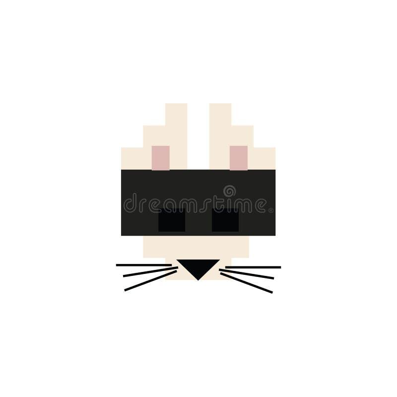 Ilustração do vetor de gato preto de 8 bits em forma de gráfico Pixel Feline Pepet Clipart ilustração royalty free