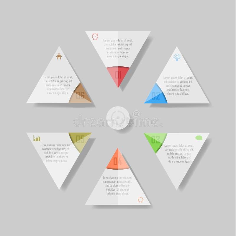 Ilustração do vetor de Infographic pode ser usado para a disposição dos trabalhos, diagrama, opções do número ilustração do vetor