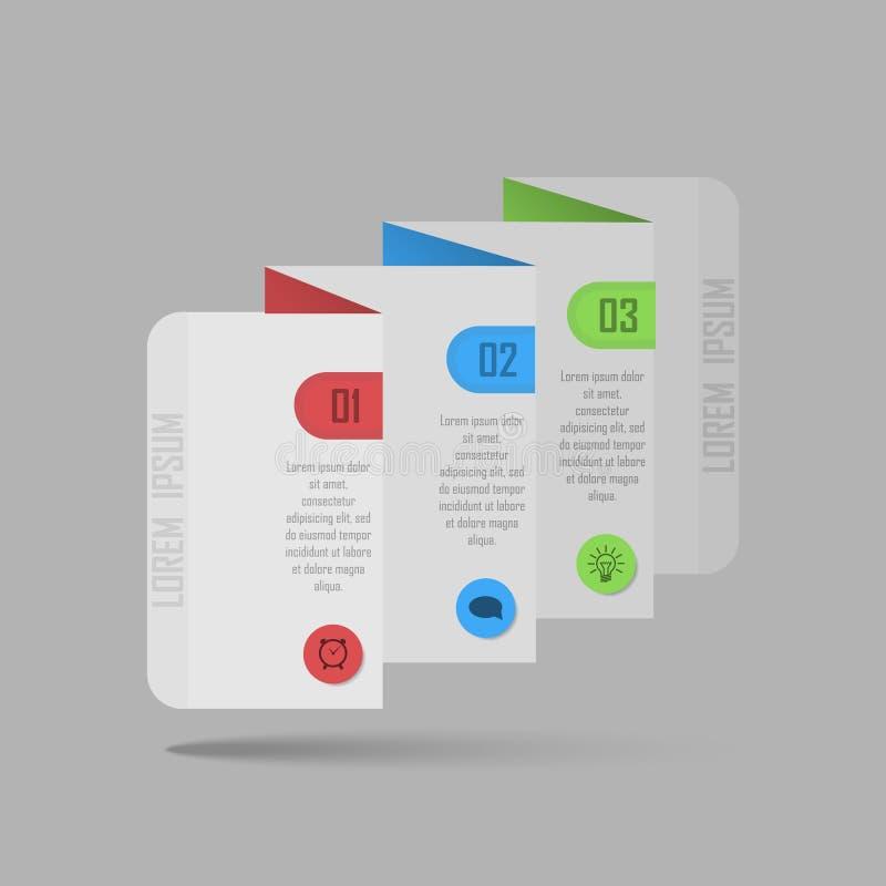 Ilustração do vetor de Infographic pode ser usado para a disposição dos trabalhos, diagrama, opções do número, desig da Web ilustração stock