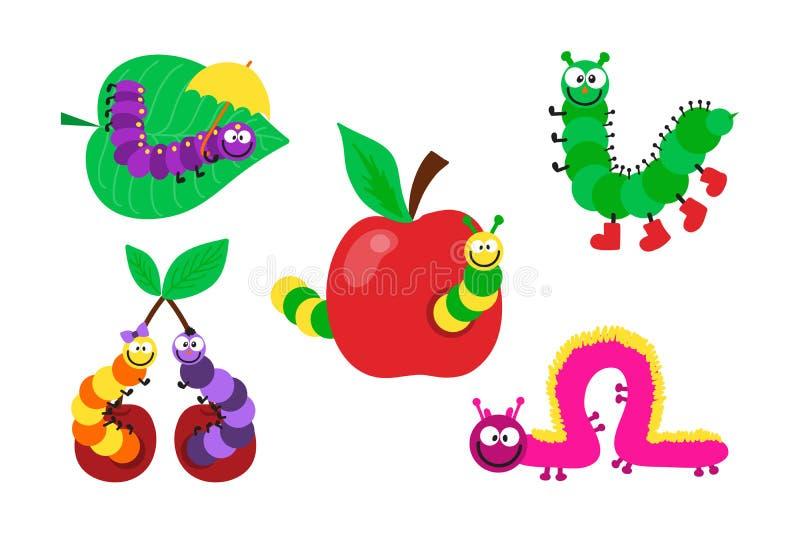 Ilustração do vetor de inseto da lagarta dos desenhos animados ilustração stock