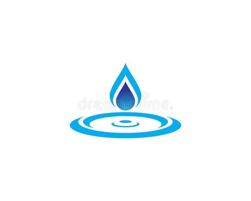 ilustração do vetor de Logo Template da gota da água ilustração stock