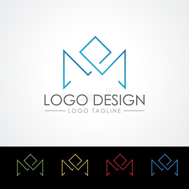 Ilustração do vetor de M Letter Logo Templates ilustração royalty free