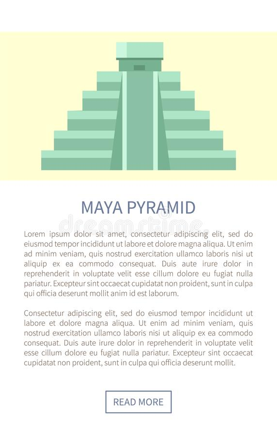 Ilustração do vetor de Maya Pyramid Web Page Text ilustração royalty free