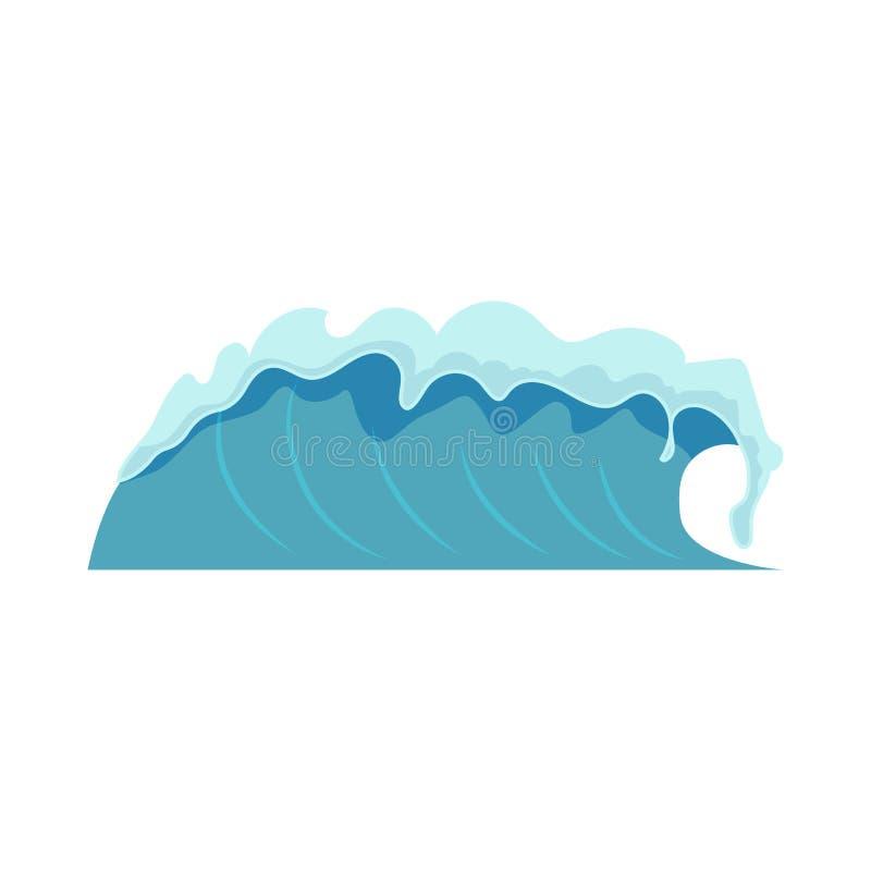 Ilustração do vetor de ondas da água ilustração do vetor