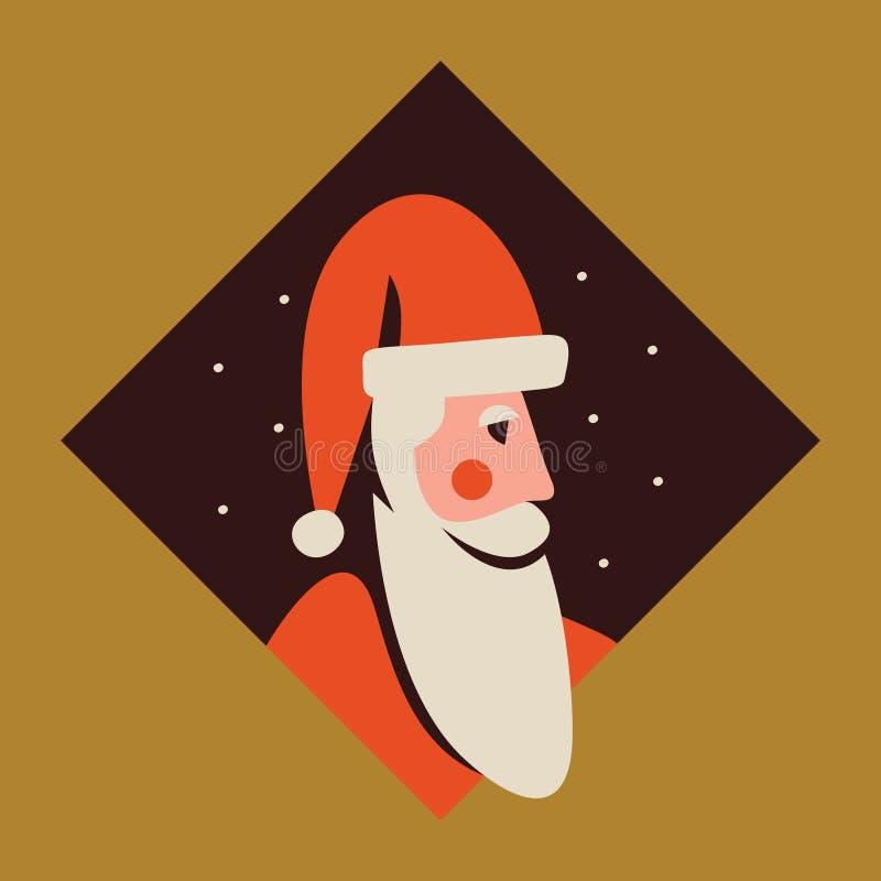 Ilustração do vetor de Papai Noel ilustração stock