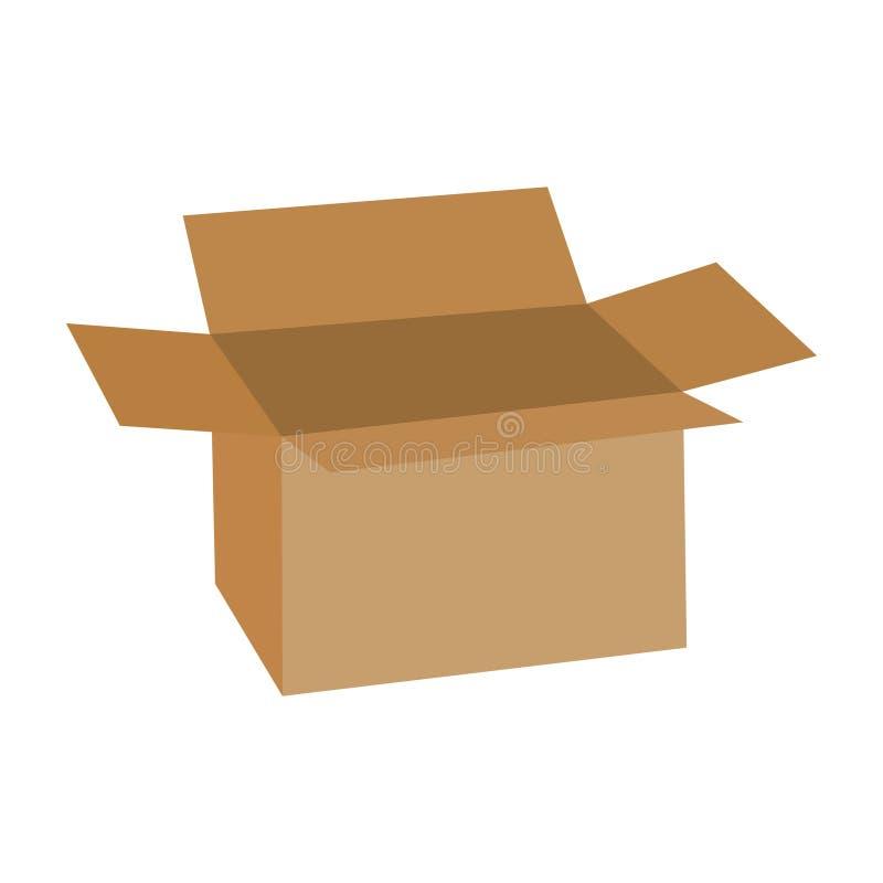 Ilustração do vetor de símbolos abertos do transporte do cartão Abra a caixa de cart?o isolada no fundo branco ilustração royalty free