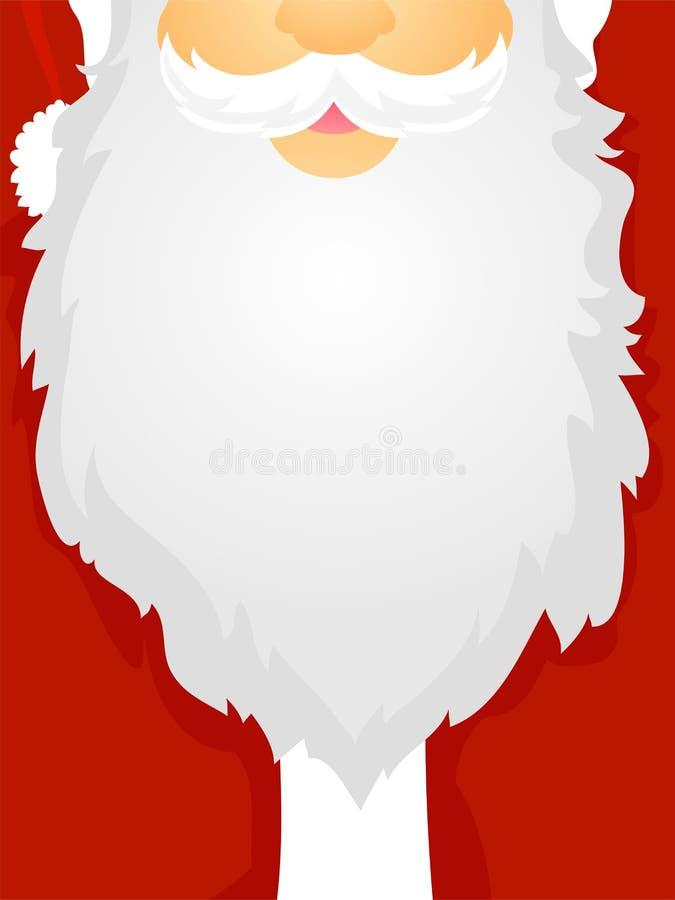 Ilustração do vetor de Santa Claus Beard como o quadro da placa ilustração stock