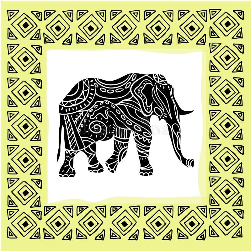 Ilustração do vetor de um animal tribal do totem ilustração stock