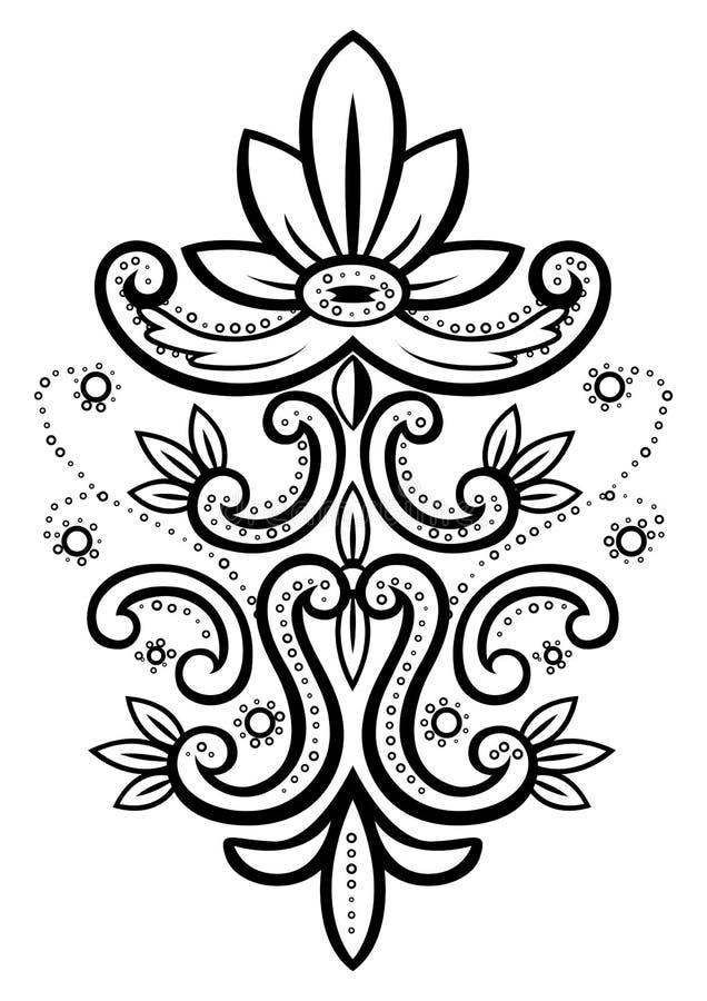 Ilustração do vetor de um elemento floral abstrato ilustração do vetor