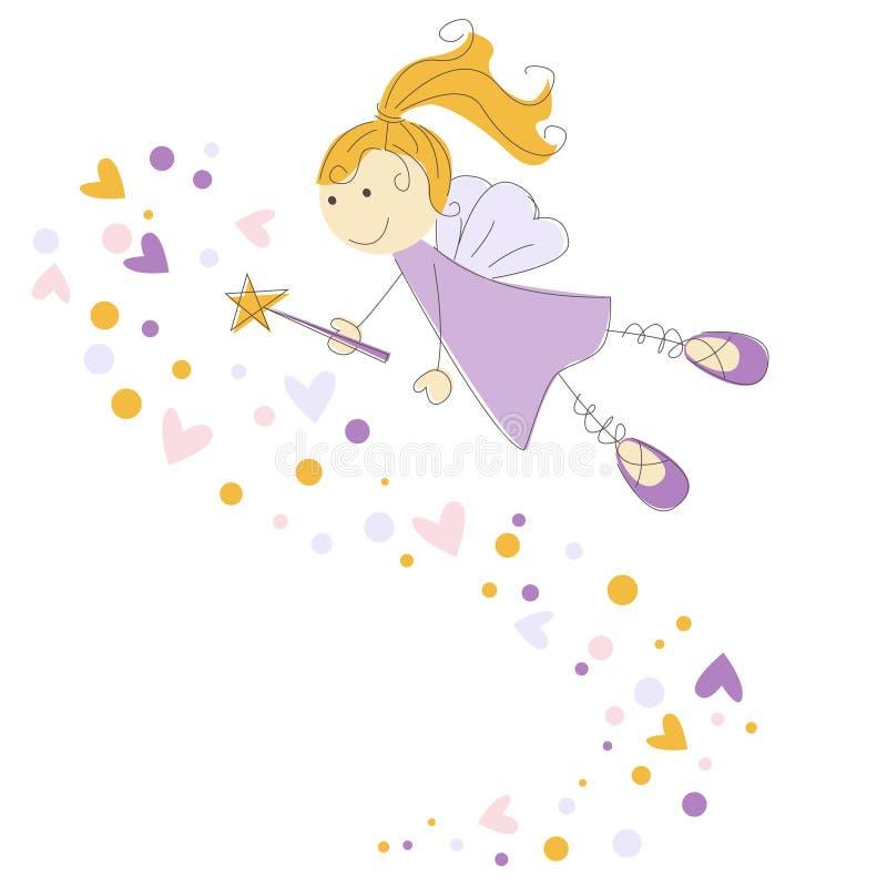 Ilustração do vetor de um fairy ilustração stock