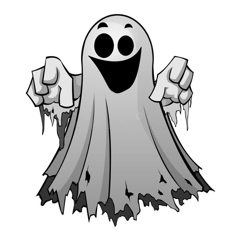Ilustração do vetor de um fantasma de arreganho ilustração do vetor
