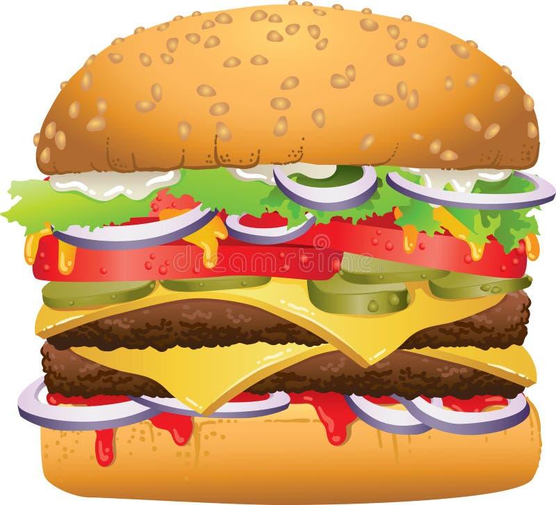 Hamburger delicioso saboroso ilustração stock