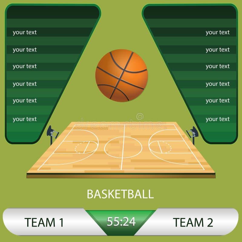 Ilustração do vetor de um jogo de competiam do basquetebol ilustração do vetor