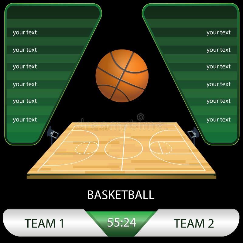Ilustração do vetor de um jogo de competiam do basquetebol ilustração stock