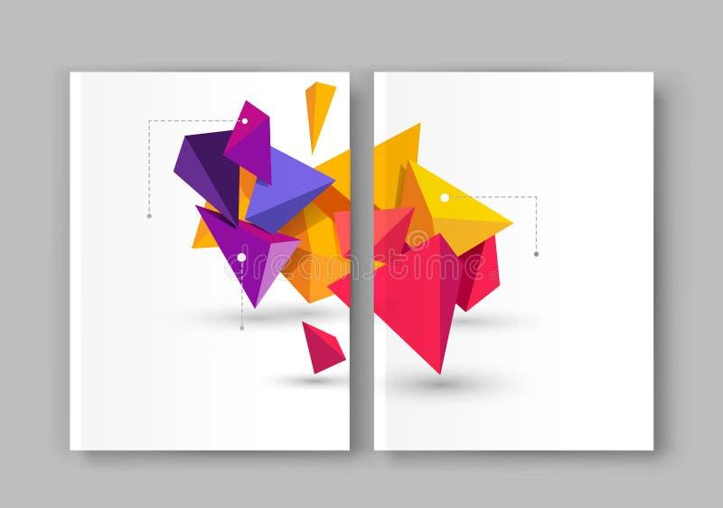 Ilustração do vetor de um molde do folheto Brochura moderna, flye ilustração stock