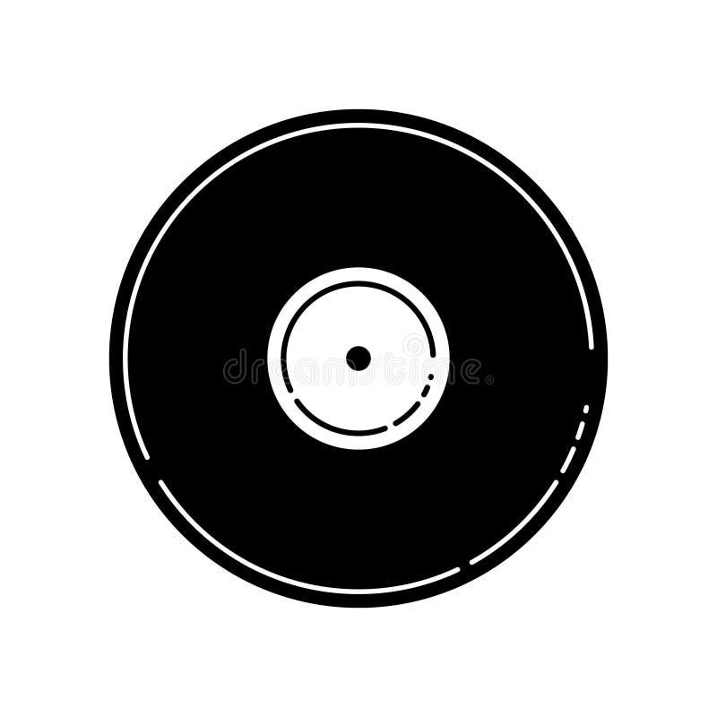Ilustração do vetor de um registro de vinil preto vazio ilustração stock